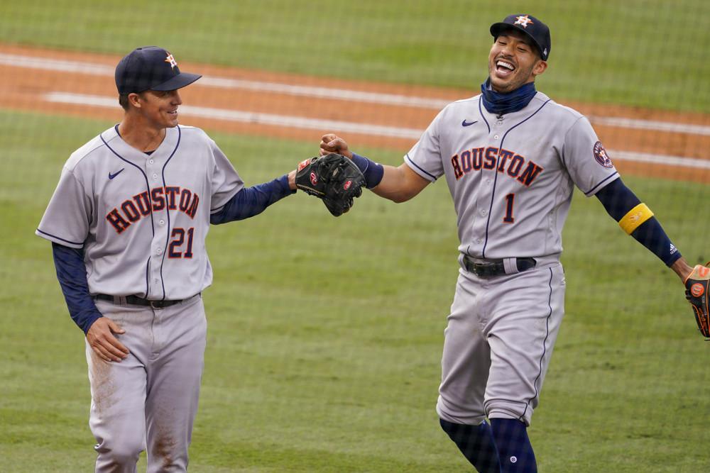 Carlos Correa, Zack Greinke, Houston Astros